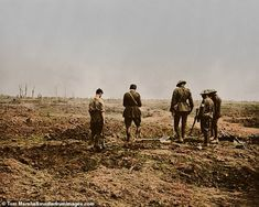 Grim reality of is brought to life in 100 colourised images to mark centenary Ww1 Soldiers, Wwi, World War One, First World, War Film, Film Inspiration, British Soldier, World History, Armed Forces