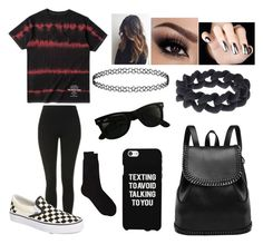 """""""Untitled #855"""" by trinitys-trends ❤ liked on Polyvore featuring WithChic, Topshop, Vans, Barneys New York, Samsung, Ray-Ban and Marc by Marc Jacobs"""