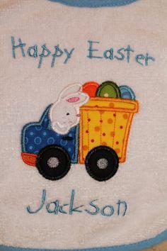 Easter Bib Personalized Terry Cloth  Bib for by AppliquesByGranjan