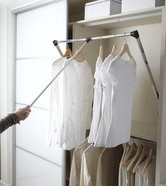 New Pull Down Wardrobe Robe Rail Rack Hanger Wardrobe Fittings 600-830mm