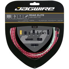 Jagwire Road Elite Link Brake Cable Kit SRAM/Shimano with Ultra-Slick Uncoated Cables, Red Mechanical Force, Cable, Brake Parts, Bicycle Components, Cool Bicycles, Front Brakes, Kit, Saving Money, Lighter