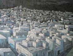 Anna Wolska - Jerushalaim, painting, 120x100cm