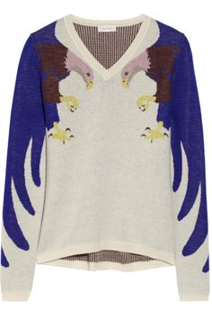 it's too much horror of kitsch even for a geek, some lines of design just shouldn't be crossed - DELPOZO | Eagle-patterened knitted sweater