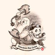 Commission: Fearless For Love Cute Panda Cartoon, Happy Birthday Drawings, Panda Illustration, Relationship Comics, Chibi Cat, Panda Love, Bear Art, Puma, Spirit Animal