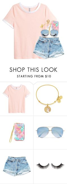 """""""1 week + then my summer break begins // Nola"""" by water-whale ❤ liked on Polyvore featuring Alex and Ani, TIKI and Victoria Beckham"""