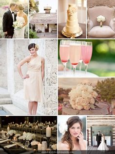 love the simple colors and ambiance of everything. pink champagne?
