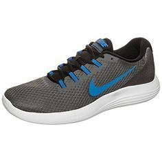 the latest 0f142 272a8 NIKE Mens Lunarconverge RunningShoes Dark GreyAy BlueWhiteBlack 95 D US      You can get
