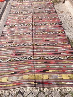 "Excited to share the latest addition to my #etsy shop: FREE SHIPPING Turkish Cicim Rug, 5.01""x10.82""Feet, 155x330 cm, Decorative Anatolian Area Kilim Rug,Nomadic Woven Cicim Home Decor Kilim Rug #housewares #rectangle #geometric #bohemianeclectic #area #wool #rugtolove http://etsy.me/2Dk0n59"