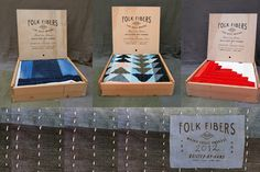 {Folk Fibers}  Not only do I love her quilts, but I also love the simplicity of these wooden boxes.