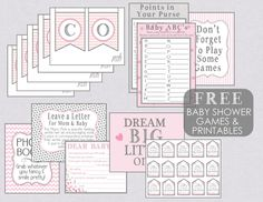 Free Baby shower games and printables