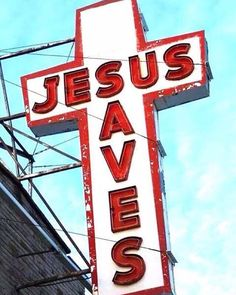 Jesus Saves ~~I Love the Bible and Jesus Christ, Christian Quotes and verses. Jesus Is Lord, Jesus Christ, Savior, Vintage Names, Vintage Signs, Neon Painting, Word Of Faith, Jesus Is Coming, Christian Wallpaper