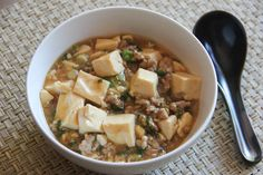 Mabo Tofu - ground pork and tofu with miso