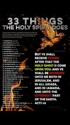 The Holy Spirit... 33 Things