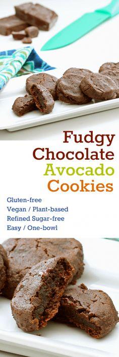 Fudgy Avocado Cookies Collage