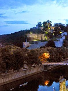 The Citadelle de Namur seen from our window