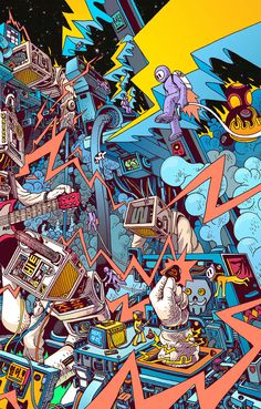 Here's digital arts inspiration for digital creatives. Artists beautifully and brilliantly created these digital art piece. Graffiti Wallpaper Iphone, Pop Art Wallpaper, Trippy Wallpaper, Cartoon Wallpaper, Wallpaper Backgrounds, Galaxy Wallpaper, 8bit Art, Inspiration Art, Hypebeast Wallpaper