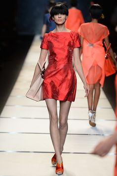 Fendi RTW Spring 2014 // Learn how to hand render shine: http://www.universityoffashion.com/lessons/rendering-shine/