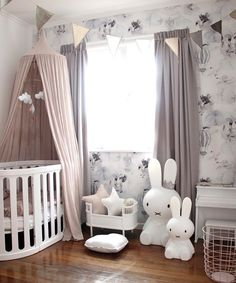 Baby girl nursery inspiration - a blush, Nordic-inspired room.
