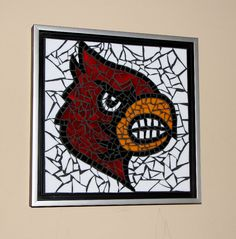 Items similar to Mosaic Louisville Cardinal Wall Hanging College Basketball UofL Memorabilia on Etsy Louisville Basketball, University Of Louisville, College Basketball, Basketball Court, Basketball Training Equipment, Louisville Cardinals, Basketball Leagues, Basketball Uniforms, National League