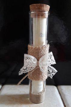 """Partecipazioni di nozze """"Messaggio in bottiglia"""" di ValeDecoHandmade su Etsy - 4€ l'uno"""
