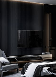 - Dubrovka - Master bedroom - Master bathroom - on Behance Black Bedroom Design, Master Bedroom Interior, Modern Bedroom, Master Bathroom, Cheap Dorm Decor, Cheap Bedroom Decor, Room Decor Bedroom, Bed Design, House Design