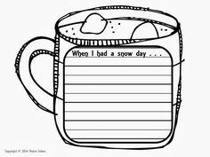 Snow Day Writing Prompt - Snow Day Printables - My Winter Break 2020 4th Grade Activities, Fun Writing Activities, Picture Writing Prompts, Cool Writing, Writing Ideas, Life Skills Classroom, Classroom Fun, Teaching Language Arts, Teaching English