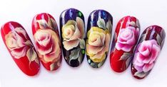 The Best ONE STROKE Nail Art Designs    All you need is a flat brush (I got mine from eBay), and acrylic paint in two colors. You dip th... One Stroke Nails, Nails First, One Stroke Painting, Flat Brush, Better One, Nail Tutorials, One Color, Natural Makeup, Nail Art Designs