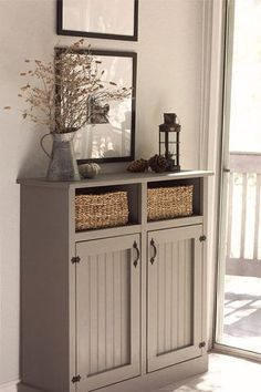 Living Room Details: DIY Cabinet, Tree stump table and Sofa ... | Jenna Sue Design Blog | Bloglovin'