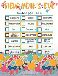 looking for an activity to keep the kids busy during your new years eve activities