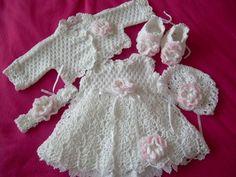 Crochet babygirl set