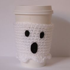 Ghost Coffee Cozy