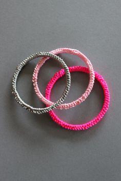 Chinese knotting Cord bracelets.