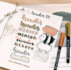 Bullet Journal Layout and Bullet Journal Inspiration Bullet Journal Inspo, Bullet Journal Headers, Bullet Journal 2019, Bullet Journal Aesthetic, Bullet Journal Ideas Pages, Journal Pages, Bullet Journal Writing Styles, Bullet Journal Ideas Handwriting, Notes Handwriting