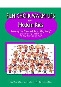 Choir Warm Ups for Your Older Students  by Heather Stenner and Cheryl Miller Thurston.  Your students will ask to start every rehearsal  with these great warm-ups.  Adding humor to  challenging warm-ups will add  just the right spice to your classroom.