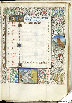 Book of Hours, MS G.55 fol. 8r - Images from Medieval and Renaissance Manuscripts - The Morgan Library & Museum