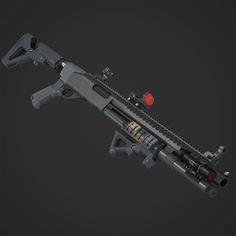 Remington 870 Tactical, Fridock ____ on ArtStation at http://www.artstation.com/artwork/remington-870-tactical