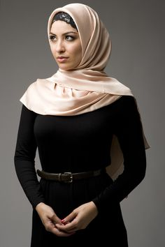 I love how she has great style while keeping her culture!  Soft Gold Hijab - Hijab House Online