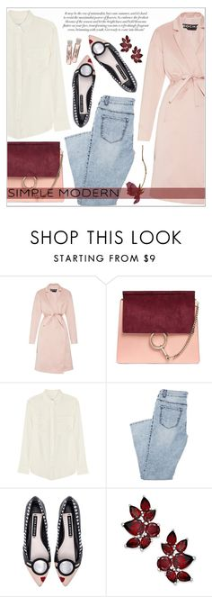 """""""216."""" by auroram ❤ liked on Polyvore featuring Rochas, Chloé, Equipment, Alice + Olivia and Supra"""