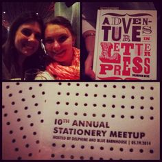 10th Annual Stationery Meetup hosted by Delphine! #nss2014 #paperlove10