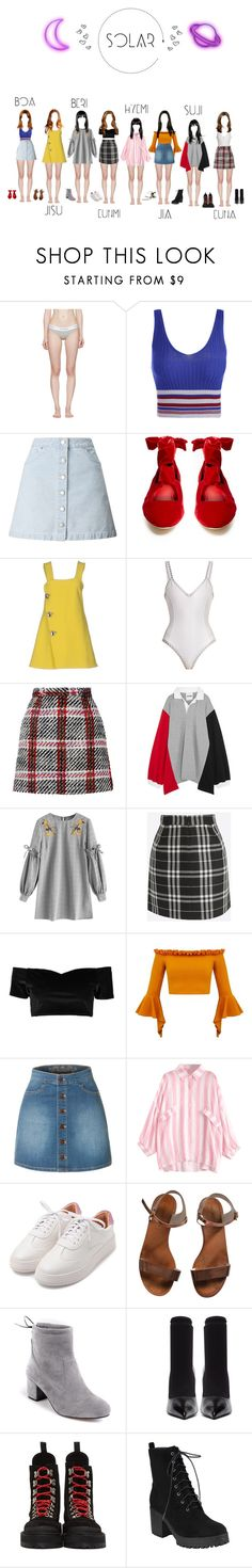"""""""! Introducing SOLAR !"""" by solar-official ❤ liked on Polyvore featuring Calvin Klein Underwear, Miss Selfridge, The Row, Marni, kiini, Carven, Koché, Boohoo, LE3NO and Emporio Armani"""