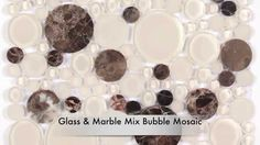 All Marble Tiles | Glass & Stone Mix Bubble Glass Mosaics and Basket Wea...