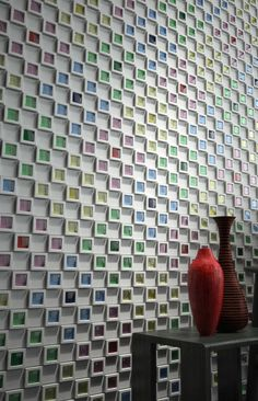 Japanese Wall Tiles - 'Dent Cube' by Inax