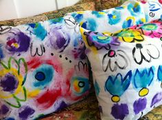Hand Painted Pillow Cases - fun idea for a sleepover