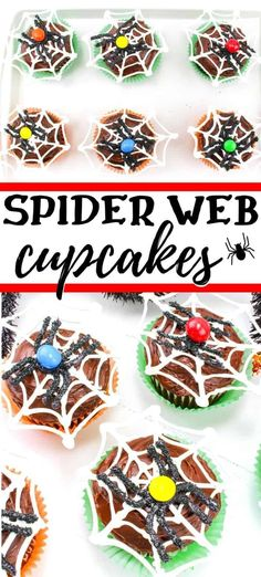 Halloween spiderweb cupcakes with chocolate spiders make a spooky and sweet Halloween spiderweb cupcakes with chocolate spiders make a spooky and sweet party dessert. Source by twopeasandpod Halloween Party Treats, Halloween Drinks, Halloween Food For Party, Halloween Desserts, Halloween Cupcakes, Halloween Spider, Diy Halloween Decorations, Halloween Stuff, Pasteles Halloween