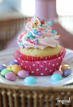 Surprise-Inspired Spring Cupcakes - cupcake dessert recipe for Spring and Easter   Inspired by Charm