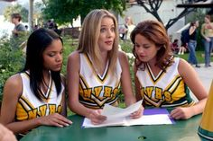 """(L-R) Erica Hubbard as Madison, Julie Gonzalo as Shelby and Kady Cole as Caitlin in """"A Cinderella Story"""" Cinderella Story Quotes, Another Cinderella Story, All Cheerleaders Die, Julie Gonzalo, Blonde Aesthetic, Friends Series, Boy Bye, Female Actresses, Iconic Movies"""