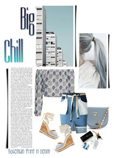 """""""Bohemian Print N Denim"""" by emcf3548 ❤ liked on Polyvore featuring Lulu Guinness, Dsquared2 and Sole Society"""