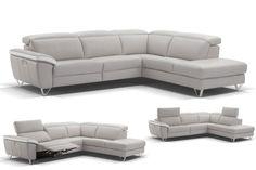 NAUSSEO - Salon avec un confort maximal grâce aux têtières relevables. Modern, chic et confortable | Meubles Lambermont