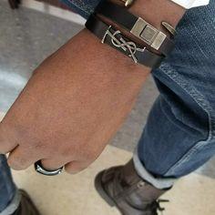 YSL bracelet Branded Jewellery, Jewelry Branding, Ysl, Bling Bling, Bracelet Watch, Fashion Jewelry, Watches, Luxury, Bracelets