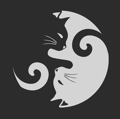 Tote bag 'Ying Yang Cats - Noir et blanc' par MellowGroove Image Illusion, Ying Y Yang, Art Africain, Cat Tattoo, Cat Drawing, Cat Art, Painted Rocks, Illusions, Cat Lovers